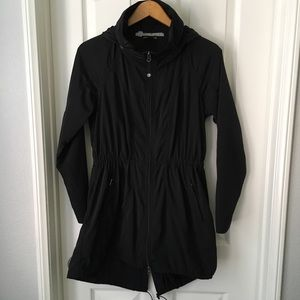 Athleta S Drip Drop Rain Jacket Black